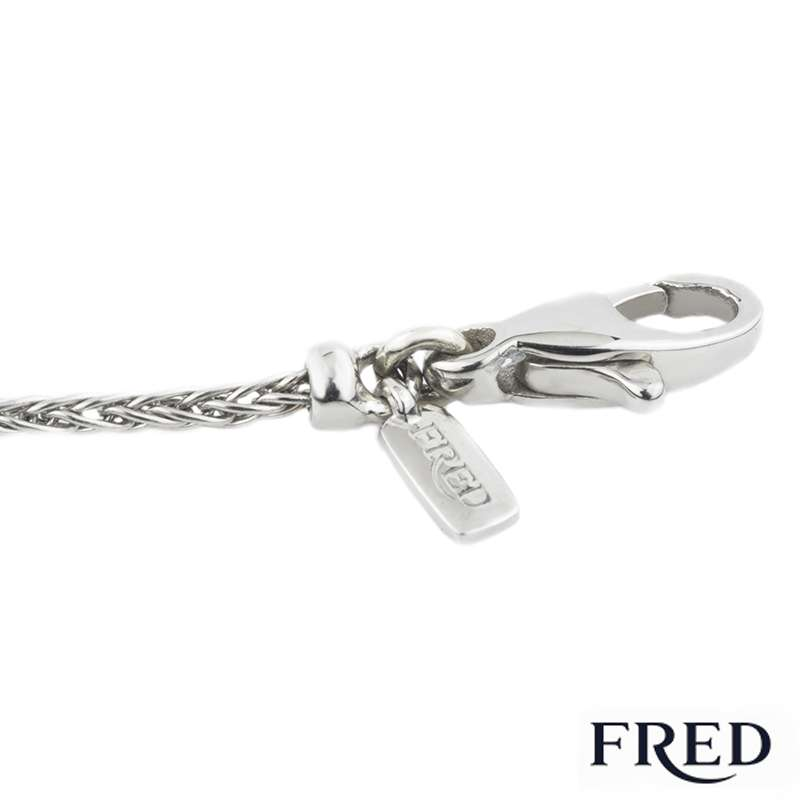 Fred Diamond and Pearl Bracelet in Platinum 6B0180